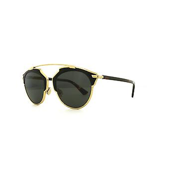 Dior So Real Leather P7P/Y1 Gold Black Leather Havana/Grey Sunglasses