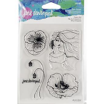 Spellbinders Jane Davenport Stamp - Poppy Girl