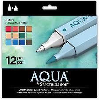 Spectrum Noir Spectrum Aqua Markers Nature (12pk) (SPECN-AQ12-NAT)