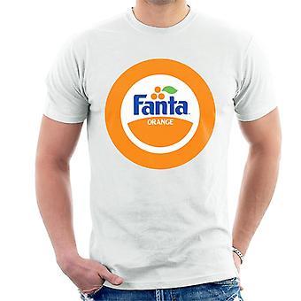 T-shirt dos homens do logotipo retro da laranja 1980 do círculo de Fanta