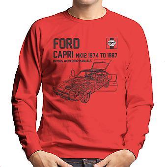 Haynes proprietari Workshop 0283 manuale Ford Capri Mk12 Felpa uomo nera