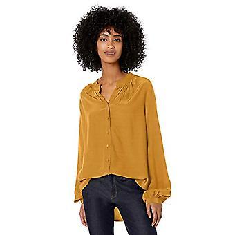 Brand - Goodthreads Women's Viscose Sleeve-Interest Shirt, Harvest Gol...