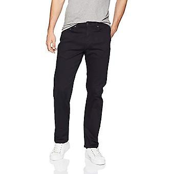 Essentials Men's Straight-Fit Stretch Jean, Black, 31W x 28L