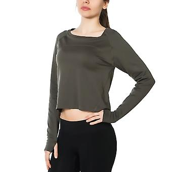 Jerf Womens Hellnar Green Crop Top Shirt
