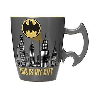 Batman Shaped Mug City Scene new Official Boxed