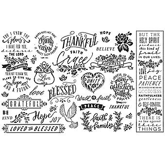 Re-Design with Prima Thankful & Blessed 19x30 Inch Découpage Décor Tissue Paper