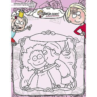 Aurelie Betje Thank You Cardmaking Clear Stamp