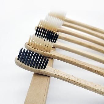 10pcs Toothbrush With Soft Bristle ,natural Bamboo Handle, Dental Oral Care