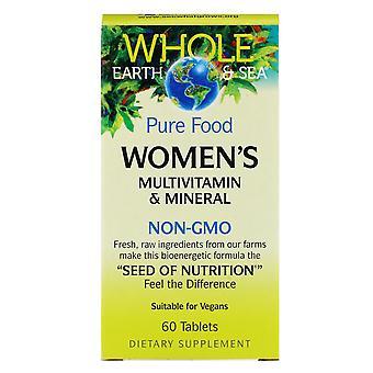 Natürliche Faktoren, ganze Erde & Meer, Frauen's Multivitamin & Mineral, 60 Tabletten
