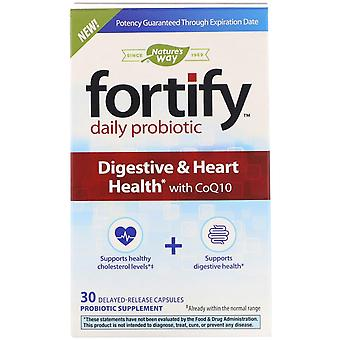 Nature's Way, Fortify, Daily Probiotic, Digestive & Heart Health avec CoQ10, 30