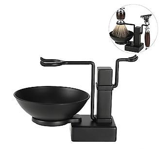 2 In 1 shaving holder set alloy shaving stand soap bowl