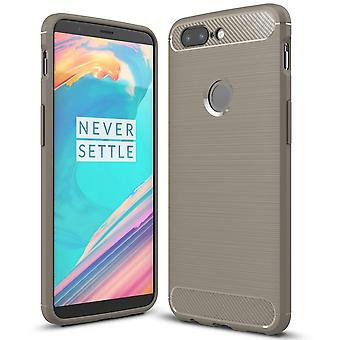 Mobile Protection Rubber for OnePlus 5t Shockproof Mobile Protection Mobile Shell Solid Colored Silicone