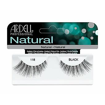 Ardell Natural Fashion False Lashes - Black 118 - Gene confortabile și reutilizabile