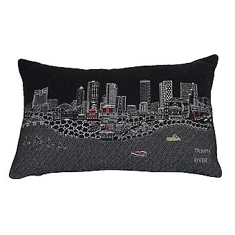 Fort Worth novedad impresión horizonte contemporáneo lana día / noche cojín