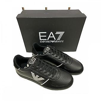 EA7 by Emporio Armani Leather Black Sneaker Trainer