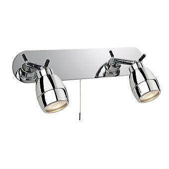 Firstlight Marine - 2 Light Spotlights Bar Switched Badkamer Ceiling Light Chrome IP44, GU10