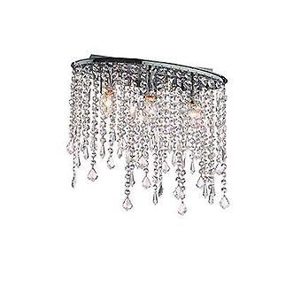 Ideel Lux Rain Clear - 3 lys lille loft flush lys krom, E14