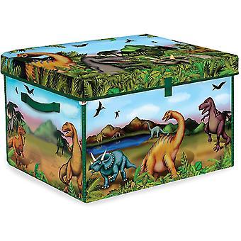 プレイマットプラスディノスおもちゃ箱と恐竜ジップビン