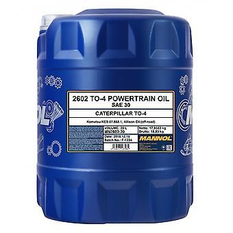Mannol TO-4 Powertrain Oil SAE 30W Transmission Fluid Gear Oil 20L