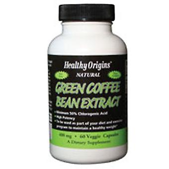 Extrato de feijão de café verde de origem saudável, 400 MG, 60 Veg Caps