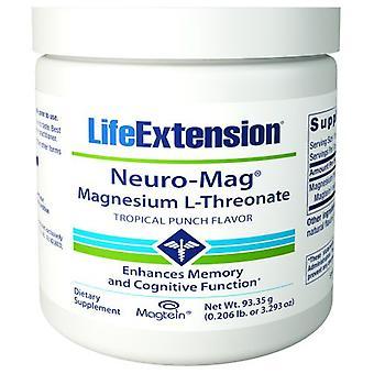 Extensão da vida Neuro-Magnésio L-Threonate, Sabor de Soco Tropical 93,35 Gramas