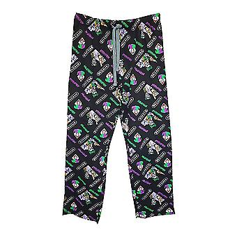 Men's DC Comics Joker AOP Black Lounge Pants