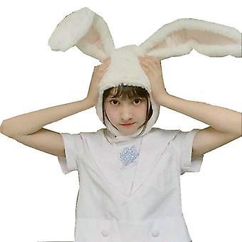 Girls Rabbit Headband, Plush Ears Hoops Bunny Headdress