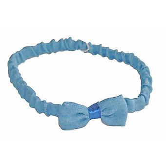 Hårband  blå rosett