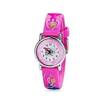 Waterproof Luminous LED Digital Touch Children watch  - Pink