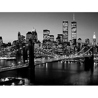 Ponte di Brooklyn NYC Poster stampa di Richard Berenholtz