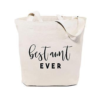 Best Aunt Ever-cotton Canvas Tote Bag