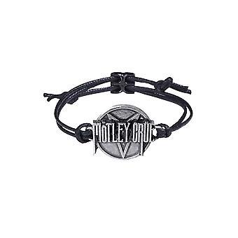 Motley Crue Armband Pentagramm 3D Band Logo Disc neue offizielle Zinn