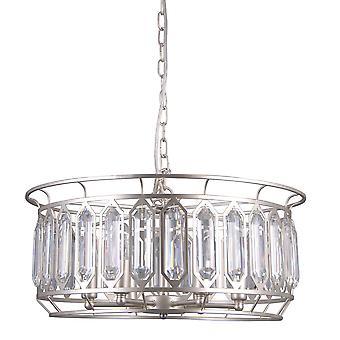 Moderne opknoping hanghanger Champagne Silver 6 Licht, E14