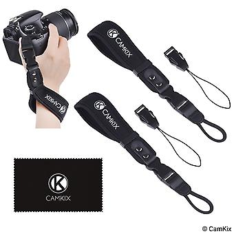 Wrist straps for dslr and compact cameras - 2 pack - extra strong and durable - comfortable neoprene