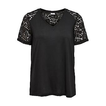 JDY Women T-Shirt Lace Short Sleeve Top Only JDYSTINNE Lace Top