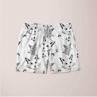 Sød kat mønster shorts