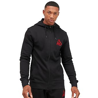 Kings Will Dream Crosby Zip Through Hoodie - Black/Red