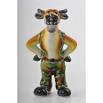Standing Bull With Green Pants Trinket Box