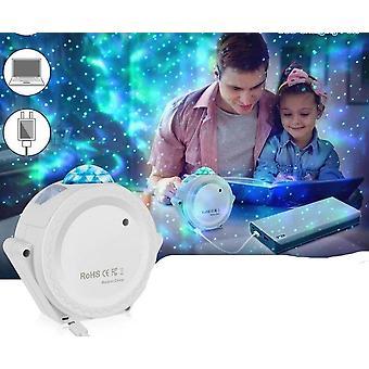 Tähtitaivaan projektorin valo 360 asteen kierto 6 väriä Yölamppu