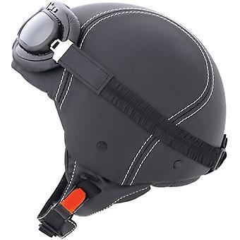 Caberg Jet Century Motorcycle Helmet Matt Black ACU Approved