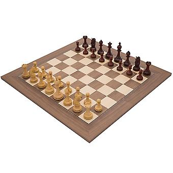 La Valletta Walnut and Redwood Luxury Chess Set