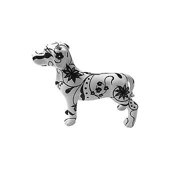 Piggy Bank Dog With Flower Pattern