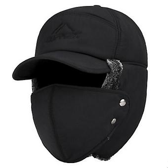 Trend Winter Thermal Bomber Hats And Ear Protection Face Windproof Ski Cap