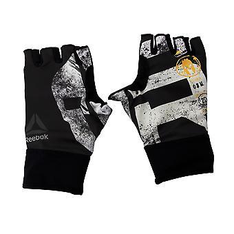 ريبوك سبارتان سباق بلا أصابع تشغيل Unisex صالة الألعاب الرياضية قفازات الأسود BK2524