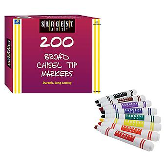 Best-Buy Washable Marker Assortment, Classic Chisel Tip, 200 Count