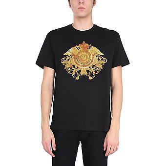 Versace Jeans Couture B3gwa74011620899 Heren's Zwart Katoen T-shirt