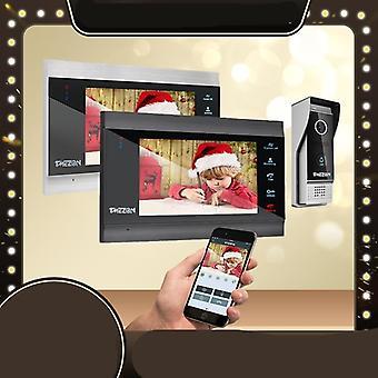 7 palcový bezdrôtový Wifi Smart Ip Video Dvere Telefón Intercom Systém