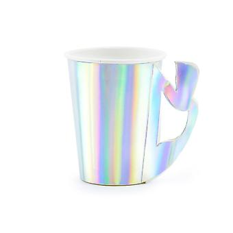 Iridescent Mermaid Paper Party Cups x 6 Partyware