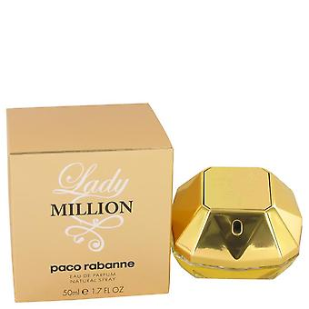 Lady milioni Eau De Parfum Spray da Paco Rabanne 1.7 oz Eau De Parfum Spray