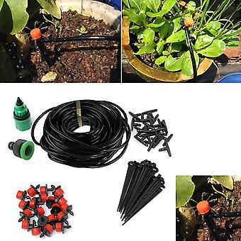 Micro Drip Irrigation Kit, Plants Garden Watering System, Automatic Garden Hose
